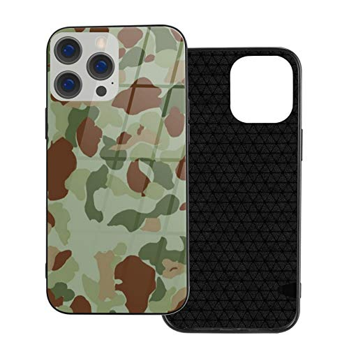 Compatible con iPhone 12 Pro Max, carcasa resistente de cuerpo completo, funda de vidrio TPU suave para iPhone 12 Pro Max 6.7 pulgadas, Wwii Marine y camuflaje del ejército