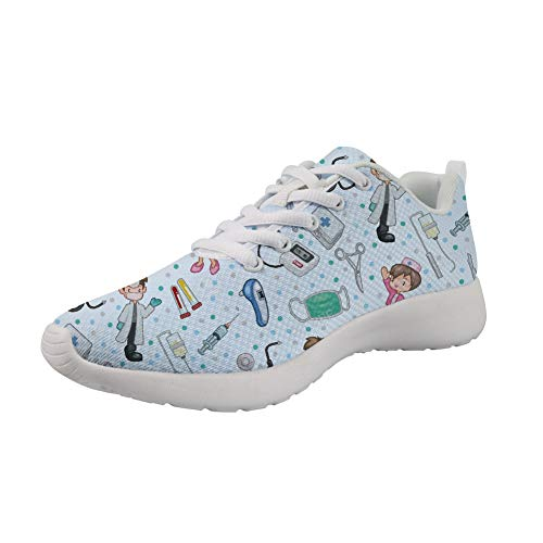 Upetstory Sneakers Running Shoes Women Tennis Shoe Lightweight Fashion Walking Breathable Athletic Training Sport Best for Doctor Nurse Gift 9