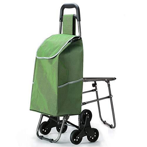 Chenbz XXHDEE mit einem Stuhl, Klettern EIN Einkaufswagen, An Old Grocery Einkaufswagen, EIN Kleiner Handwagen, einen Wagen, EIN Klappwagen, EIN beweglicher Stapelstuhl