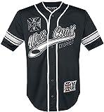 West Coast Choppers 30 Years Anniversary Limited Baseball Hombre Camisa Manga Corta Negro-Blanco M