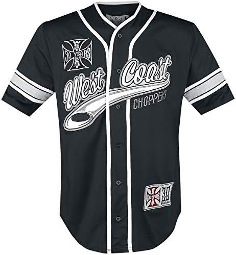 WEST COAST CHOPPERS 30 Years Anniversary Limited Baseball Jersey Männer Kurzarmhemd schwarz/weiß M