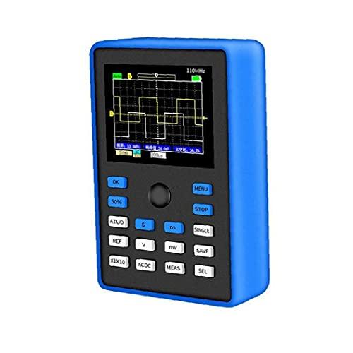 Osciloscopio digital Professional 500ms / S Tasa de muestreo 110MHz Ancho de banda analógico 2.4 pulgadas Soporte de forma de onda Blue Tester
