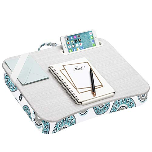 LapGear Designer Lap Desk with Phone Holder and Device Ledge - Medallion - Fits up to 15.6 Inch Laptops - Style No. 45425,Medium - Fits up to 15.6' Laptops