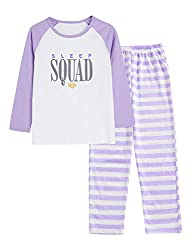 Pajamas for Girls Size 6-16 Pants & Long Sleeve
