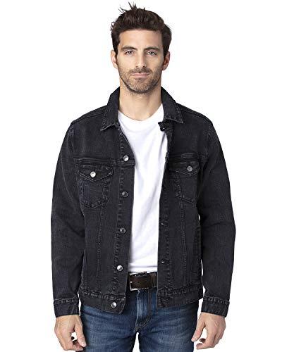 Threadfast Apparel Unisex Denim Jacket M BLACK DENIM