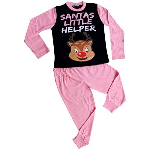 A2Z 4 Kids Girls Pyjamas Santas Little Helper Reindeer - PJS Rudolph Baby Pink_2-3