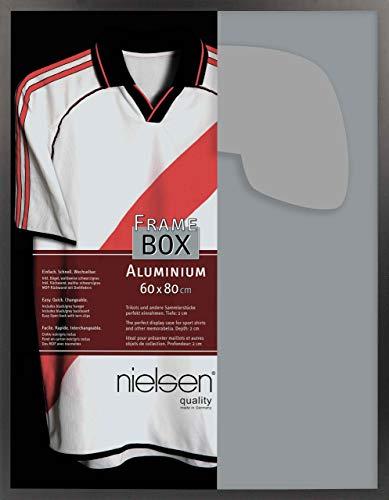 Nielsen Aluminium Bilderrahmen Framebox, II 60x80 cm, Eloxal Schwarz Matt, Acrylscheibe