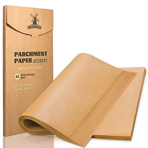 ]200 Pieces Precut Non-Stick Parchment Paper for Baking
