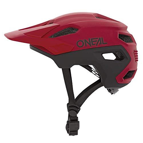 O'NEAL | Mountainbike-Helm | MTB All-Mountain | Lüftungsöffnungen zur Belüftung & Kühlung, Größenverstellsystem, Sicherheitsnorm EN1078 | Trailfinder Helmet Split | Erwachsene | Rot | Größe S/M
