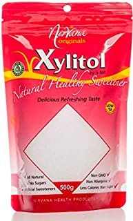 Nirvana Originals Xylitol Natural Healthy Sweetener Stand-Up Ziplock Pouch 500 g