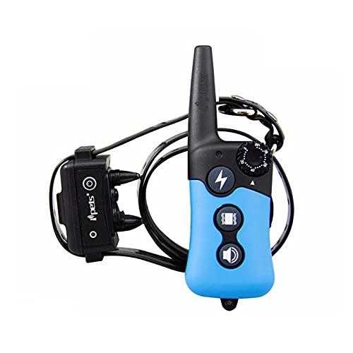 Collar De Entrenamiento De Control Remoto Recargable De 300 M. El Collar De Choque Es Impermeable En 3 Modos Choque/Vibración/Sonido Ajustable De 1 A 100, Adecuado para Todos Los Tamaños De Perros