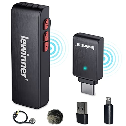 Lewinner Wireless Lavalier Microphone with Charging...