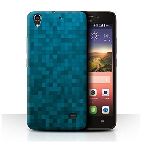 Stuff4 Hülle/Hülle für Huawei Ascend G620S / Blauer Tiger Muster/Pixelmuster Tarnung Kollektion