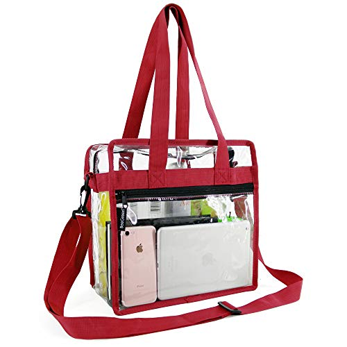 Best Review Of Clear-Tote-Bag-NFL-Stadium-Approved-12 x 12 x 6, NCAA MLB& PGA Security Approved Cros...