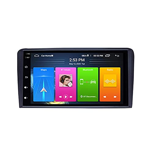 Android 10.0 Autoradio per Audi A3 S3 RS3 2003-2012 Car Stereo GPS Navigazione Touch Display Auto Media Player Doppia DIN Head ; Supporto WiFi Controllo del Volante WiFi(4G+WiFi,2+32G)