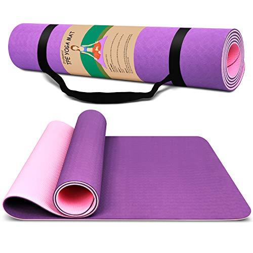 Dralegend Hot Yoga Mat For Men Exercise Fitness Mat - High Density Non-Slip Workout Mat for Yoga, & Exercises, Anti...