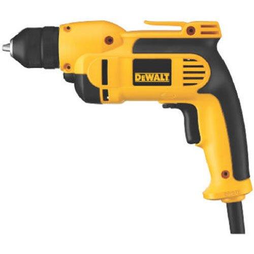 DEWALT VSR Electric Drill, Keyless Chuck, 8.0-Amp, 3/8-Inch