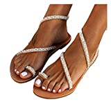 Vedolay Espadrilles Sandals for Women Cheetah Women's 2021 New Comfy Platform Toe Ring Wedge Sandals Shoes Summer Beach Travel Shoes Comfortable Flip Flop Shoes White