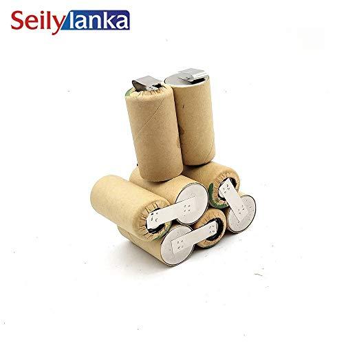 Seilylanka 3000mAh für Lematec 9.6V Ni MH Akku CD PP 9.6V PP9.6V PRO-ENERGY, NCT Power Block PP zur Selbstinstallation Batterie Werkzeugakkus