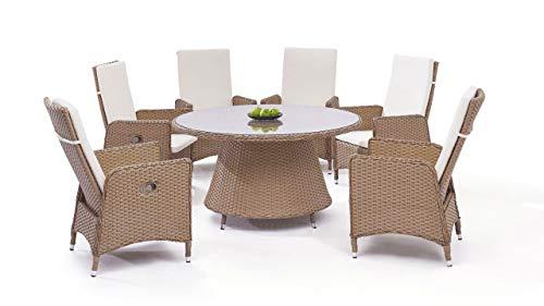 talfa Doona 6 - Juego de Muebles de jardín (ratán sintético, Redondos), Color marrón