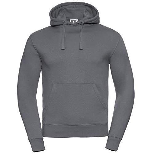 Russell Mens Authentic Hooded Sweatshirt Hoodie S Convoy Grey
