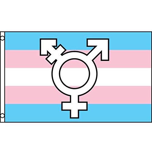 Faylagee-yx 3x5 Transgender Symbols Pride Flag Banner Bisexual Gay Lesbian GLBT Equal Rights