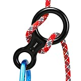 AOKWIT Rescue Figure 8 Descender Climbing Gear Downhill Equipment 35KN/3500kg 7075 Aluminum Alloy Rigging Plate for Climbing Belaying and Rappeling Device (Black)
