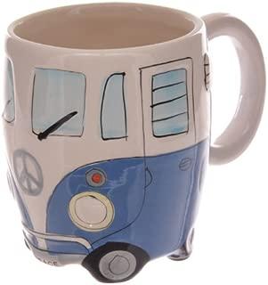 Volkswagen - Blue Ceramic Shaped Coffee Mug / Cup (VW Camper Van) By Giftbrit