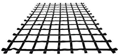 FONG 11 ft X 8 ft Climbing Cargo Net Black - Climbing Net for Treehouse - Indoor Climbing net for Gym - Outdoor Playground Swing, Belt Swing, Cargo Net Playground - Climbing Net for Kids Backyard