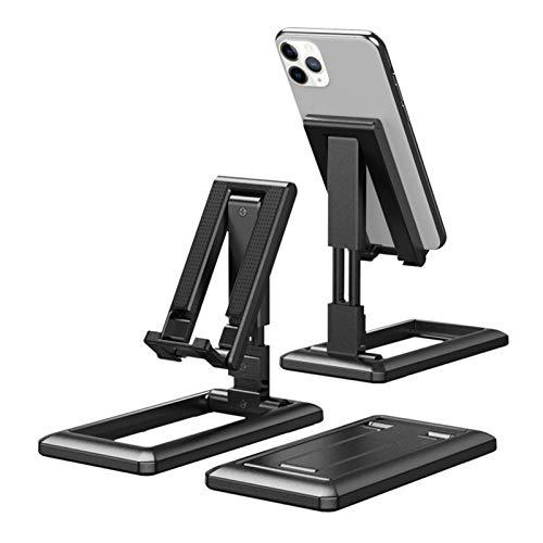 Rubeyul Soporte para tableta, teléfono móvil, soporte ajustable para tableta, universal, plegable, para todas las tablets y smartphones de 4 a 13 pulgadas, color negro
