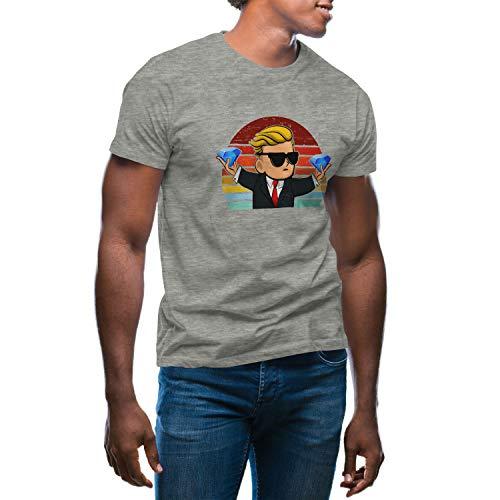 GameStonk WallstreetBets Coin Reddit T-Shirt Maglietta Grigio per Uomo Size XXL