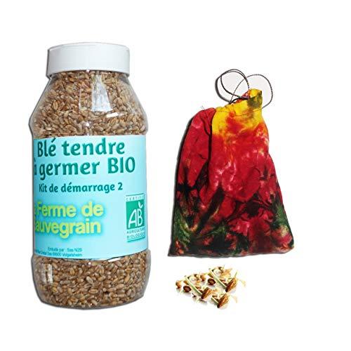 Blé Tendre à germer Bio avec 1 Sacs à germer - 800gr