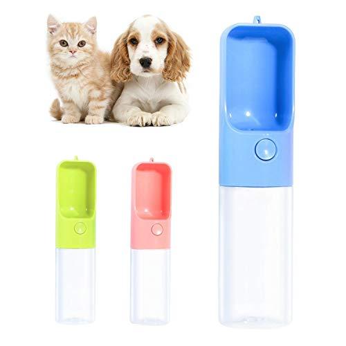 Qisiewell Hunde Trinkflasche fur Unterwegs 450ml Blau Hund Wasserflasche Haustier Trinknapf Antibakterielle Tragbare Reise Trinkflasche Wasserspender Ideal fur fur Unterwegs Outdoor