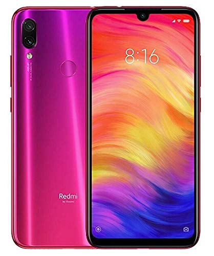 Xiaomi Redmi Note 7 64GB 6.3', 48MP AI Dual Cameras, GSM Unlocked 4G LTE Smartphone - Nebula Red