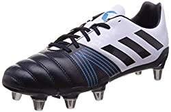 Black White and Blue adidas Men's Kakari Sg Rugby Boot