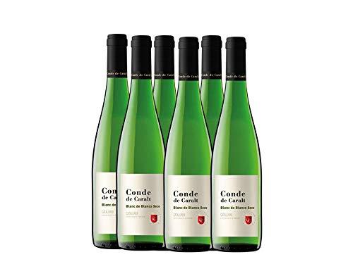 Conde De Caralt - Vino Blanco Seco - Botella 75 cl - Pack de 6 botellas - 4500ml