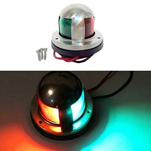 GOFORJUMP Double Lampe de Couleur de bâti Marin de Pont de Bateau de Navigation d'arc de Bateau de CC d'acier Inoxydable de CC 12V