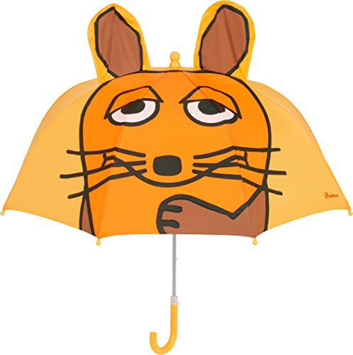 Playshoes 3D Regenschirm Die Maus Capo d'Abbigliamento, Giallo, Original Mädchen