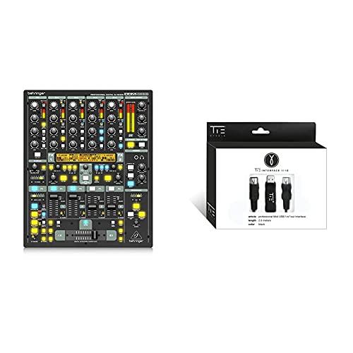 Behringer DIGITAL PRO MIXER DDM4000 DJ Mixer & TIE Studio professionelles latenzfreies Midi (USB-Typ A Interface inkl. Oktokoppler, 2, 0 m, Plug & Play, stabiles Timing, Windows und Mac OSX) schwarz