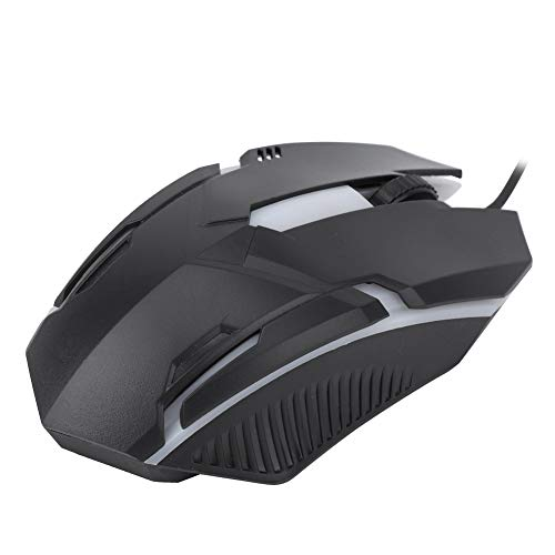 1600DPI Gaming Mouse, Wired Computer Mouse, Backlit Black Computer Accessory for windowsXP/Vista/7/8/10 for PC Laptop