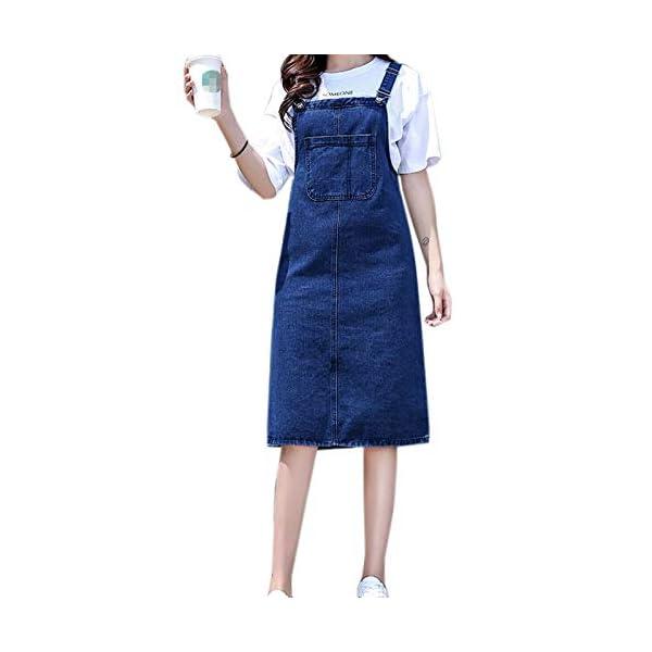 Women Denim Pinafore//Dungaree Dress Ladies Braces A Line Jeans Overall Dresses