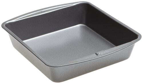 Goodcook 786173391991 Good Cook 8 Inch x 8 Inch Square Cake Pan 8 x 8 Inch Gray
