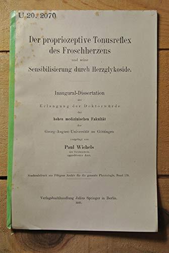 Der propriozeptive Tonusreflex des Froschherzens und seine Sensibilisierung durch Herzglykoside.