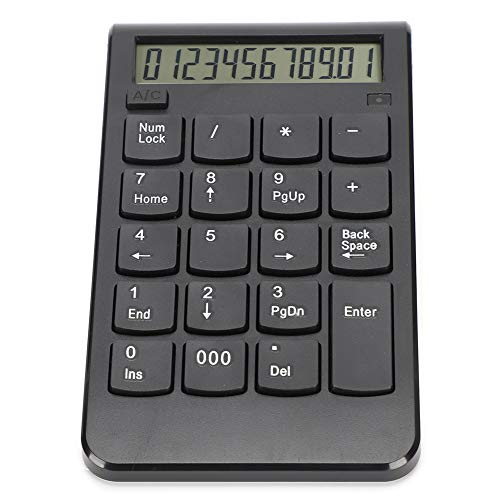 keyren ABS Plastic Number Keyboard, USB Charging Calculator, Ergonomic Plug‑and‑Play, Working for Calculation(Black)