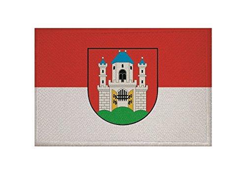 U24 Aufnäher Burghausen Flagge Aufbügler Patch 9 x 6 cm