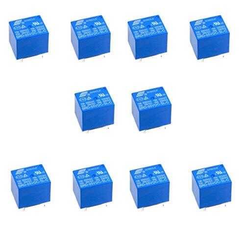 10 Unidades Relé SRD-05VDC-SL-C Relé Miniatura SPDT