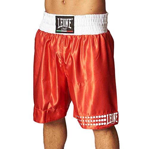 Leone 1991 - Pantalón Corto de Boxeo, Unisex, para Adulto, Rojo, XXL