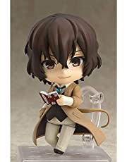 Lifelike Bungo Stray Dogs Nakahara Chuuya/Dazai Osamu Q Version Nendoroid Interchangeable Face/Replaceable Accessories Action Figure Collection Model, Toy Doll Desktop Decoration Ornaments