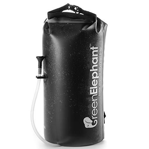Green Elephant 2-in-1 Solar Shower & Dry Bag – 5-Gallon Portable Shower...