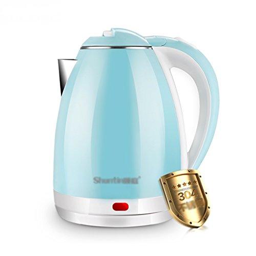 Bouilloire électrique 304 en acier inoxydable, anti-hot automatique, alimentation vers le bas de 1,8 litres grande capacité Bouilloire d'eau ( Couleur : Bleu )